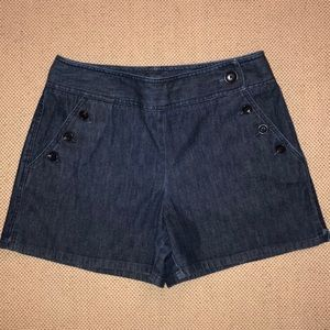 Ann Taylor buttoned Jean shorts